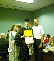 Best picture of Jill with myself holding the new Degree with Jay Bockelman