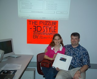 Showing Off Senior Project with my Wife - Jill Feyerherm